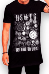 Camisa Hashtag Long Shirt Relogio On Time Preto