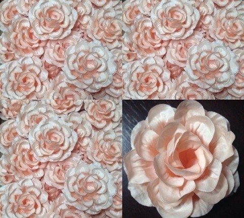 Fabric flower for wedding decor model g 30 pieces pink fabric flowers for wedding junglespirit Gallery