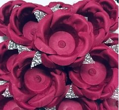 Image of Fabric Flower Wrappers for Wedding Sweets Maira (100 pieces)