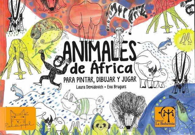 Animales de África para colorear, dibujar y jugar