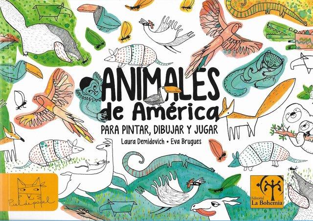 Animales de América para colorear, dibujar y jugar