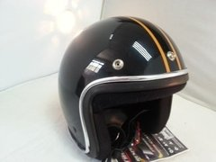 Capacete Vintage Old School Com Listras Customizado na internet