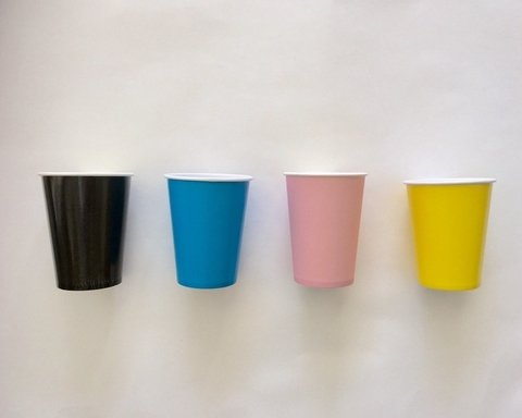 Vasos descartables lisos x 8