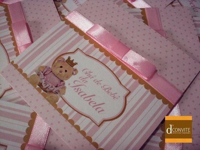 Convite Para Chá De Bebê Ursinha Princesa