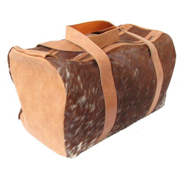 LEATHER TRAVEL BAG WITH HAIR e8c61e30e0f8f