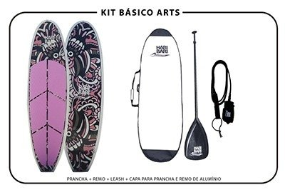 Prancha de Stand up paddle Haribari SUP Arts - Tatoo Rosa