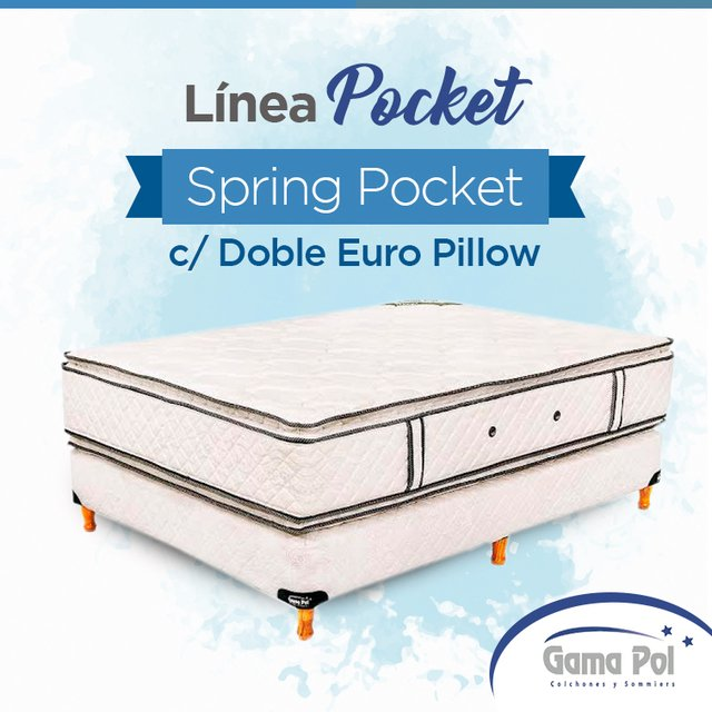 Spring Pocket c/ doble Euro Pillow - comprar online