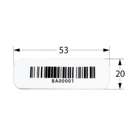 Tag Std RFID 5320M - Lote Com 100 Unidades
