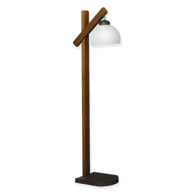 Floor lamp wood with tulip glass rustic aloadofball Choice Image