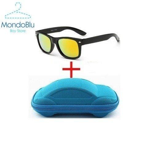 Óculos de Sol Menino Prata c  Porta óculos de carro 78f6837095