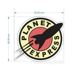 Adesivo Geeks - Futurama - Planet Express - 95 x 85 mm na internet