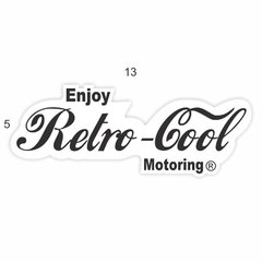 Adesivo Oldschool - Retro Cool Motoring - 50 x 130 mm na internet