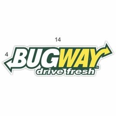 Adesivo Oldschool - Bug Way drive fresh - 140 x 40 mm na internet