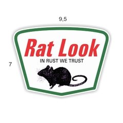 Adesivo Ratlook - Rat look in rust we trust - 95 x 70 mm na internet