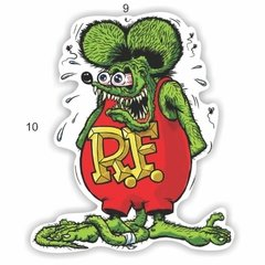 Adesivo Ratlook - Rat fink Color - 100 x 90 mm na internet
