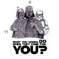 Adesivo Geeks - Starwars Come for You - 110 x 90 mm - comprar online