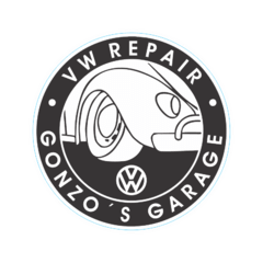 Adesivo Oldschool - Vw Repair Gonzo Garage - 90 x 90 mm