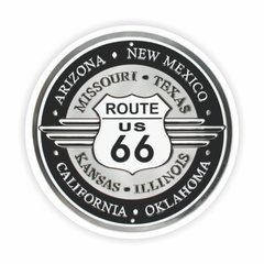 Adesivo Oldschool - Route 66 - 85 x 85 mm