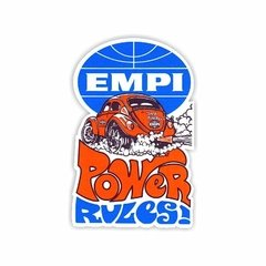 Adesivo Oldschool - Empi Power Rules - 110 x 70 mm