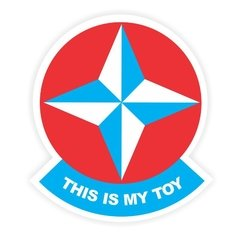 Adesivo - Estrela - This is my toy - 90 x 100 mm