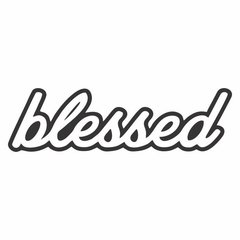 Adesivo JDM - Blessed - 140 x 80 mm