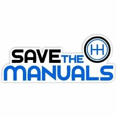 Adesivo Carro - Save the Manuals - 145 x 65 mm