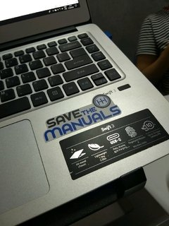 Adesivo Carro - Save the Manuals - 145 x 65 mm - comprar online