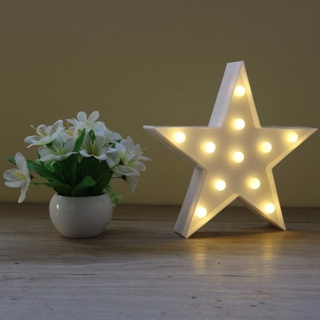 Lampara Decorativa Estrella LED 2 en internet
