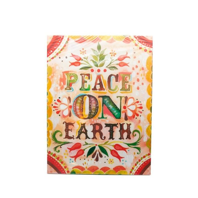 CUADRO RECTANGULAR MEDIANO PEACE ON EARTH