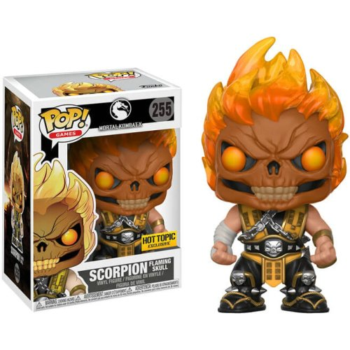 Funko Pop: Scorpion Flaming Skull (Mortal Kombat X) (Hot Topic Exclusive)