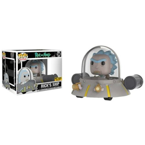 Funko Pop Rides: Rick's Ship (Hot Topic Exclusive) (Rick And Morty)