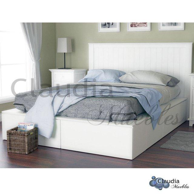 Claudia muebles cama 2 plazas euro multifunci n para colch n de - Camas divanes juveniles ...