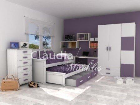 Claudia muebles cama nido con cajones laqueada - Camas divanes juveniles ...