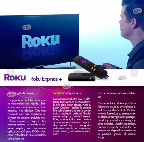 Roku Express+ Plus Smart Tv Hdmi O Tv Antiguos Salida Rca en internet