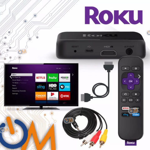 Roku Express+ Plus Smart Tv Hdmi O Tv Antiguos Salida Rca