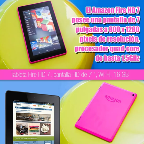 Tablet Amazon Kindle Fire 7 2017 16gb Magenta - comprar online