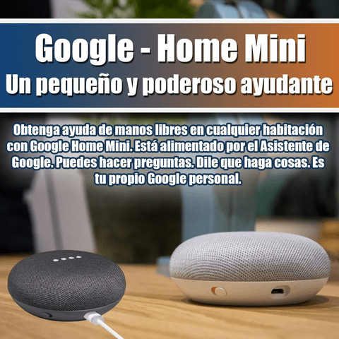 Google Home Mini Asistente Virtual Manos Libres - comprar online