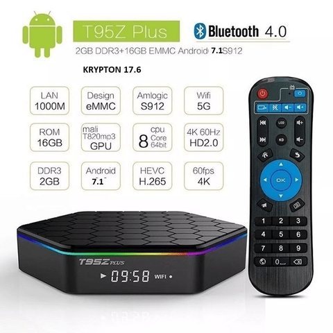 Smart Tv Box T95z Plus 2gb 16gb Octa Core S912 Android 7.1