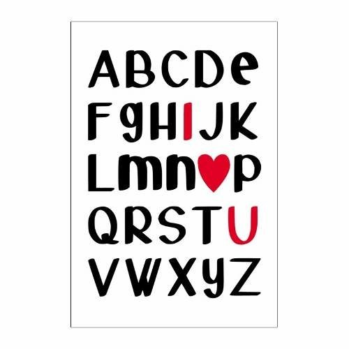 Cuadro Focu Deco Lienzo Canvas 20x30 Letras - I Love You