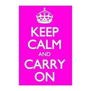 Cuadro Focu Deco Lienzo Canvas 20x30 Keep Calm - Fucsia
