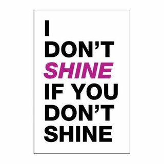 Cuadro Focu Deco Lienzo Canvas 20x30 I Don't Shine