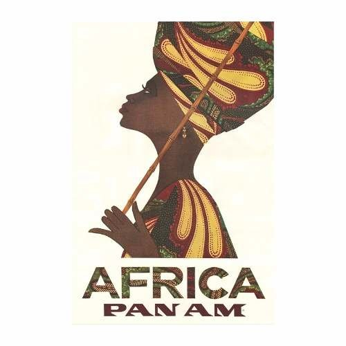 Cuadro Focu Deco Lienzo Canvas 20x30 Pan Am Africa