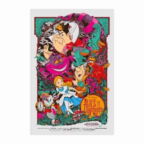 Cuadro Focu Deco En Lienzo Canvas 20x30 Alice In Wonderland