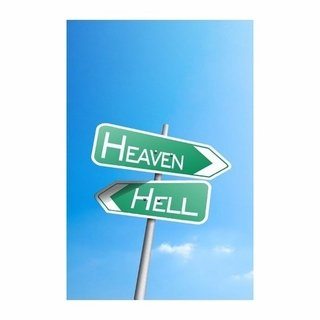 Cuadro Focu Deco Lienzo Canvas 20x30 Hell And Heaven