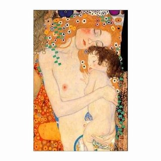Cuadro Focu Deco Lienzo Canvas 20x30 Klimt Mother And Child