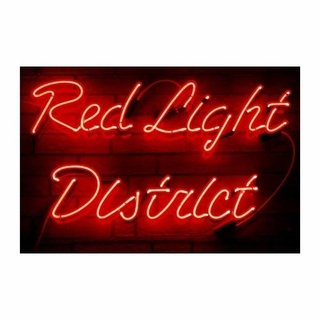 Cuadro Focu Deco Lienzo Canvas 20x30 Red Light District