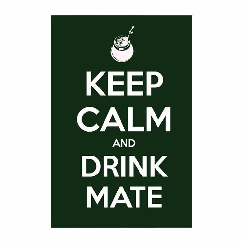 Cuadro Focu Deco Lienzo Canvas 20x30 Keep Calm Mate Verde..