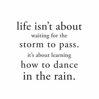 Cuadro Focu Deco Lienzo Canvas 20x20 Frase Dance In The Rain
