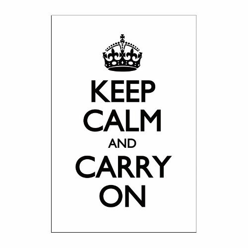 Cuadro Focu Deco Lienzo Canvas 20x30 Keep Calm - Blanco