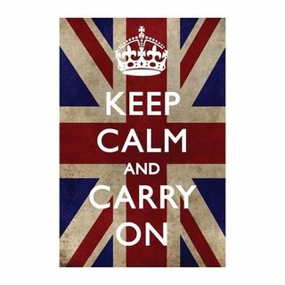 Cuadro Focu Deco Lienzo Canvas 20x30 Keep Calm Uk